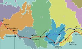 A Map of the Trans-Siberian route